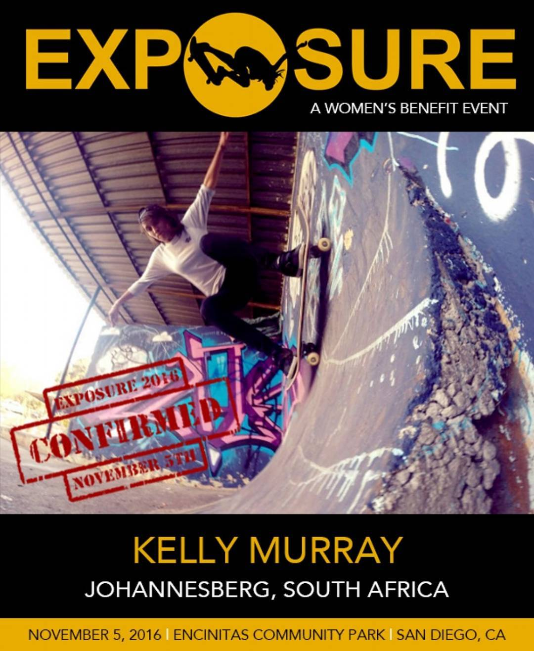 @kelly_murray0 -Programs Officer at @skateistan South Africa- will be with us this year November 5th!!
