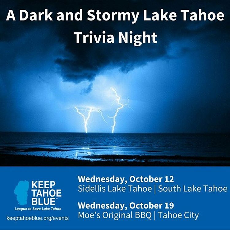 Think you know Lake Tahoe? Join us in October for some fun trivia on the Lake and what is threatening it. Can't wait to see you there! Photo credit: @sierralight11