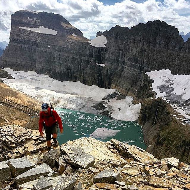 OH WHAT A HIKE Right in the heart of Glacier National Park. Rad view from the trail to the summit of Grinnell Glacier. Nice shot @ptor! #RadParks #FindYourPark #NPS
