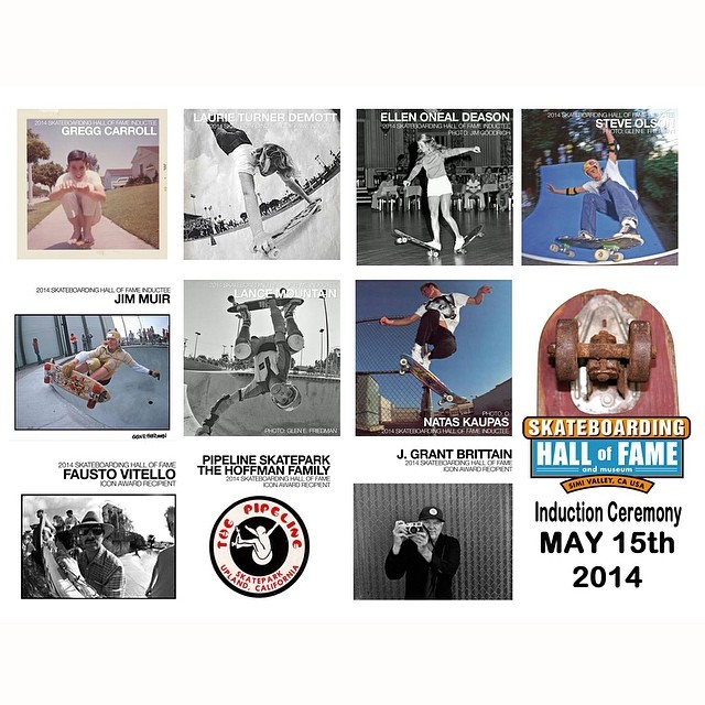 This sold out event is going down tonight in Costa Mesa. Heavy crew being inducted into the @skateboardinghalloffame - Gregg Carroll, Natas Kaupas, Lance Mountain, Jim Muir, Steve Olson, Ellen Oneal and Laurie Turner. #Exposure will be representing, so...