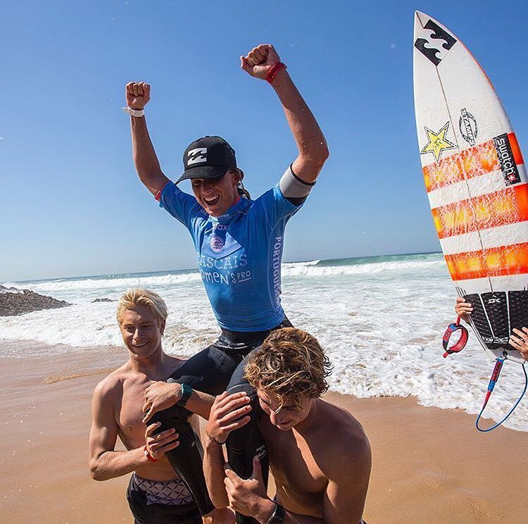 Congrats to team rider @courtneyconlogue on her big win at the #CascaisWomensPro!