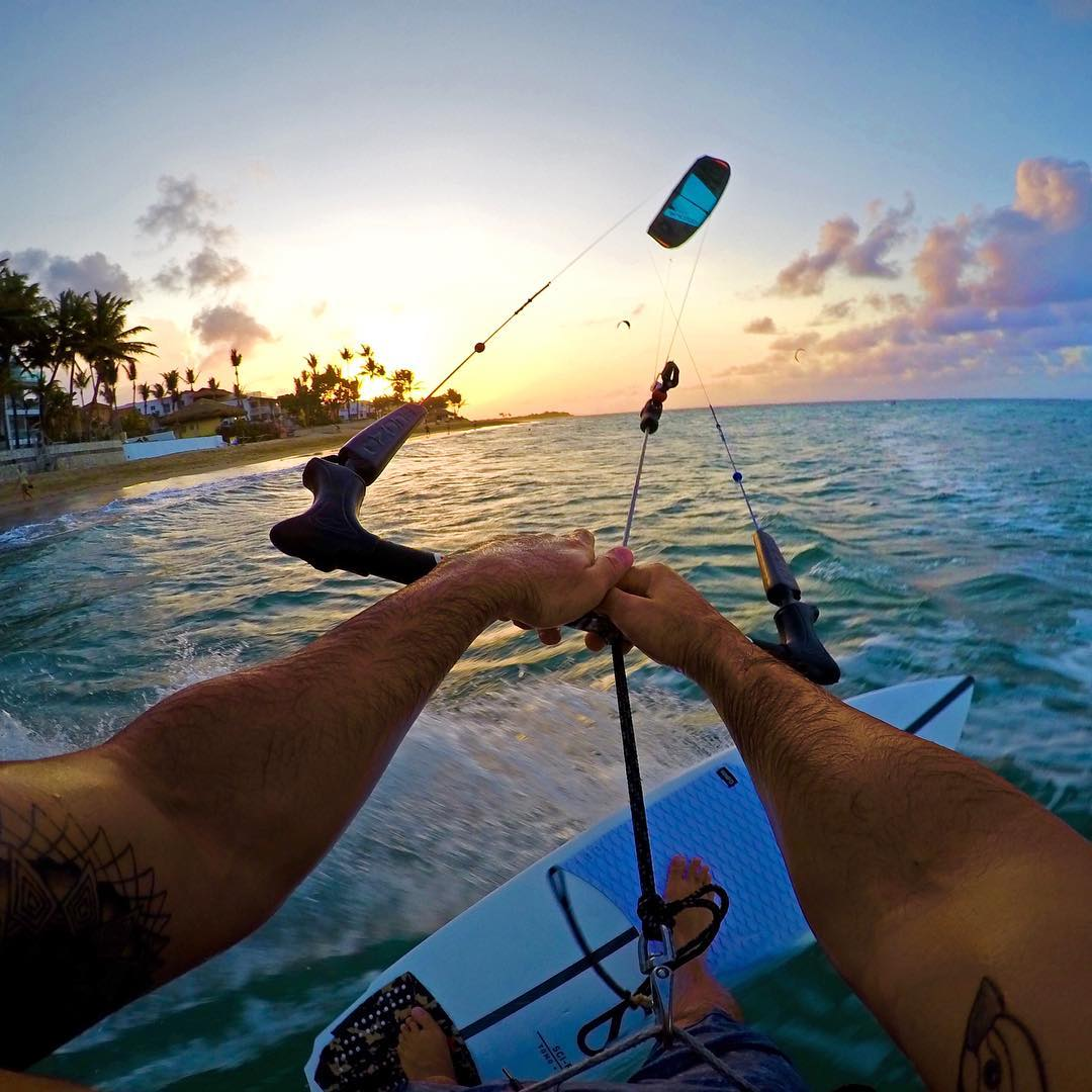 @oronkessel chasing a sunset in the Dominican Republic. Shot with GoPro HERO4 & GoPole Chomps. #gopro #gopole #gopolechomps #kitesurf #dominicanrepublic