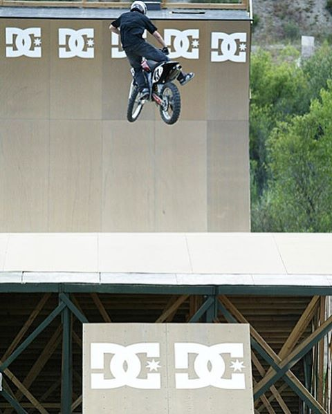 #TBT to that time I jumped my dirt bike on the @DCShoes Mega Ramp, in between the filming seasons of Mr. Danny Way for The DC Video, circa 2004. That was fun. Ridiculously fun! #megabraaaaap  Photo: @Blabacphoto
