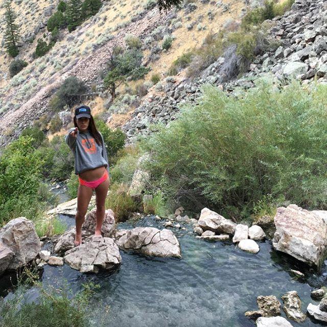 Our #PHGB sweatshirt and #goldbughotsprings in #Idaho
