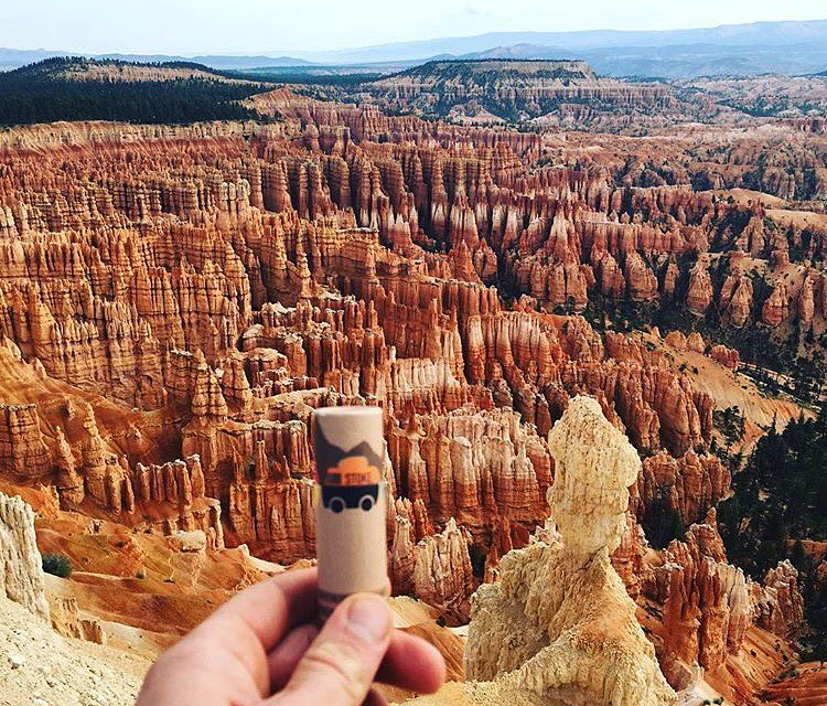 Great on your lips, great on your face, great in Bryce Canyon. @studiojuan treating stokie to a view #stokedgoods #stokehappens #brycecanyon