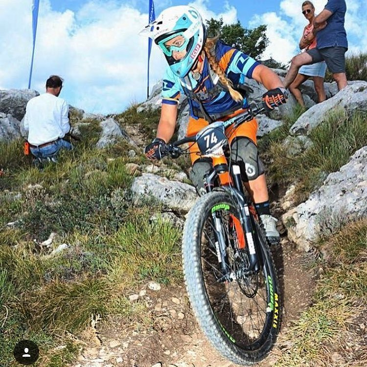 Damn! Healing vibes to @traharn who went down hard in yesterday's @world_enduro Practise in #finaleligure and will have to sit out of this weekends racing