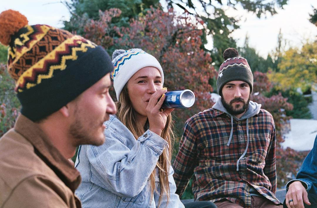 From rooftop beers to midwinter boarding, The Winters beanie fits in. Available now in stores and online at link in bio. #coalheadwear #beanie #pom