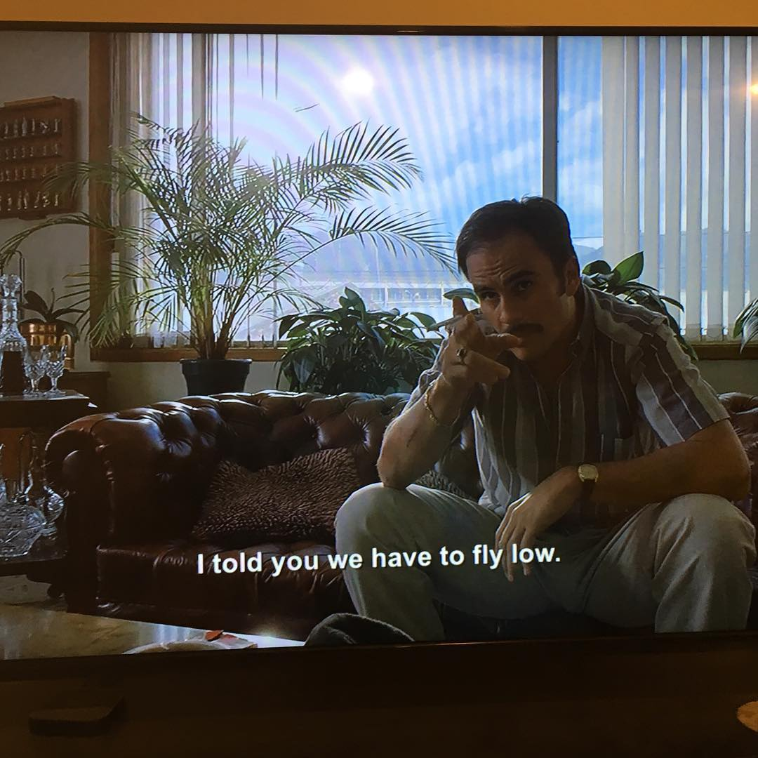 Not that we love Escobar, but this part of @narcos we agree with. #defineyourroute #embracethestorm #flylowgear  Thanks @noah_j_howell for screen grab