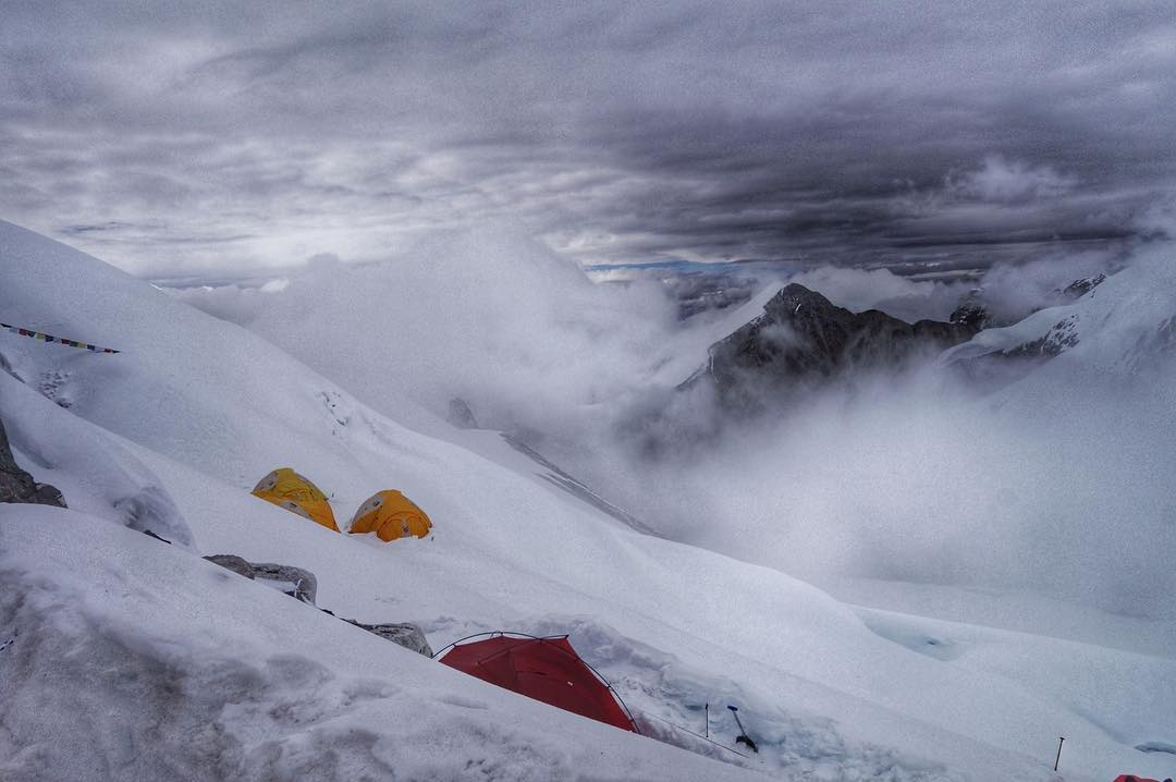 Our friends @adrianballinger and @emilyaharrington are making their summit push on Cho Oyu here in the next few hours. Tune in on Snapchat at Everestnofilter.  #getoutstayout