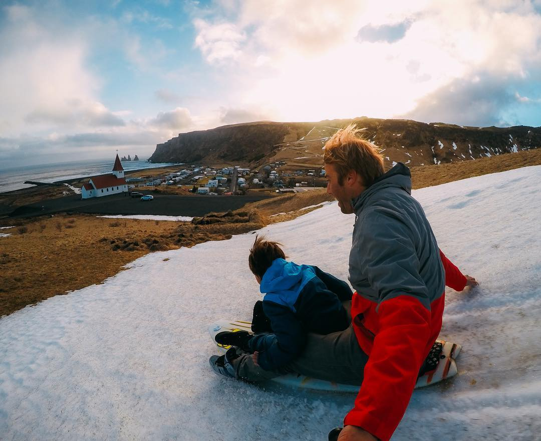 Featured Photographer + #GoPro athlete @anthony_walsh_  About the shot: This was my son's first trip to the cold, seeing snow, glaciers and icebergs! It ended up being our favorite family holiday ever. Driving around #Iceland in our camper, from one...