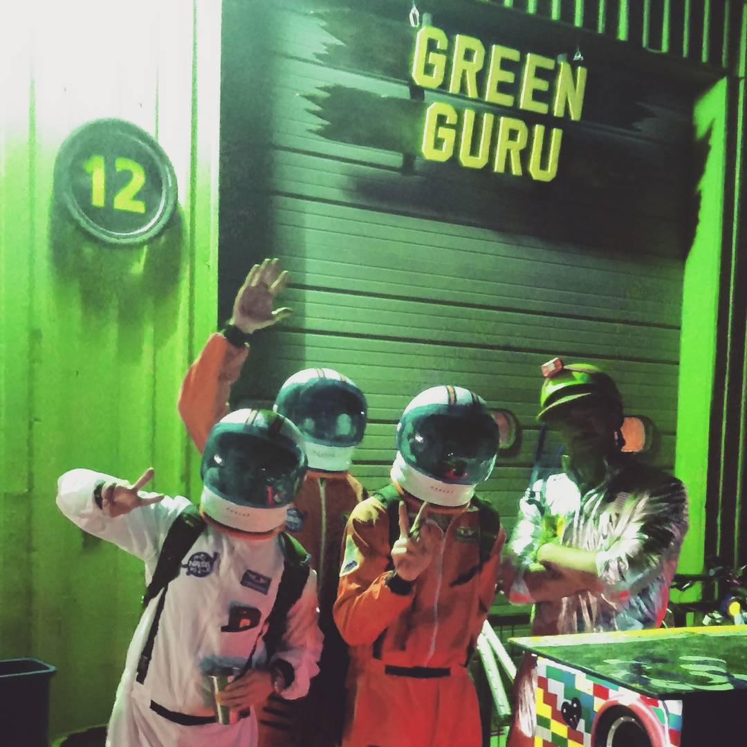 Green Guru Space crew about to launch #musicbike #bikeparty