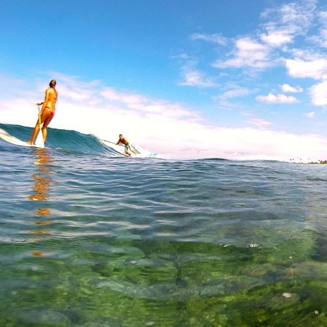A great place to be! #surfing w/ @swellliving #wescored #bamboopaddle #imaginepaddlesurf #teambioastin #konaboys #rareform #kaenon #odinasurf #itakebioastin #irideirecycle #goprooftheday