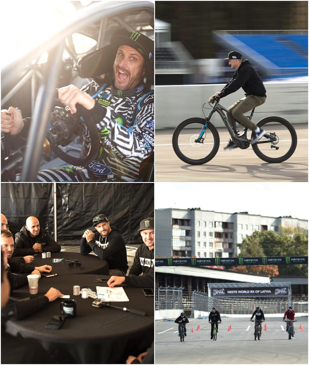 In my last post, I mentioned that today was a busy day here at @FIAWorldRX round 10 in Latvia. Here are a few visuals of today's fun, courtesy of Mr. @Larry_Chen_Foto. #LatviaRX #bikergang #SpecializedSquad