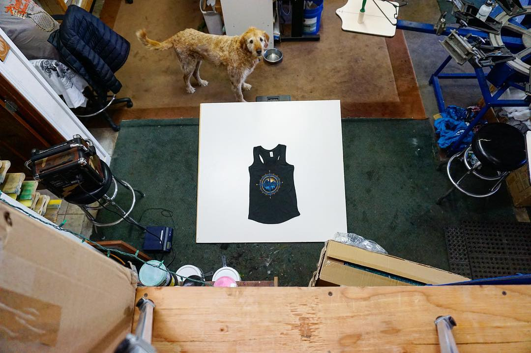 Here's another shot of how we shoot our product photos in our shop. Everyone has their own way to do it. We use the limited space we have and make things happen. Thanks for the help Wilson, one of our many shop dogs. #risedesigns #risedesignstahoe...