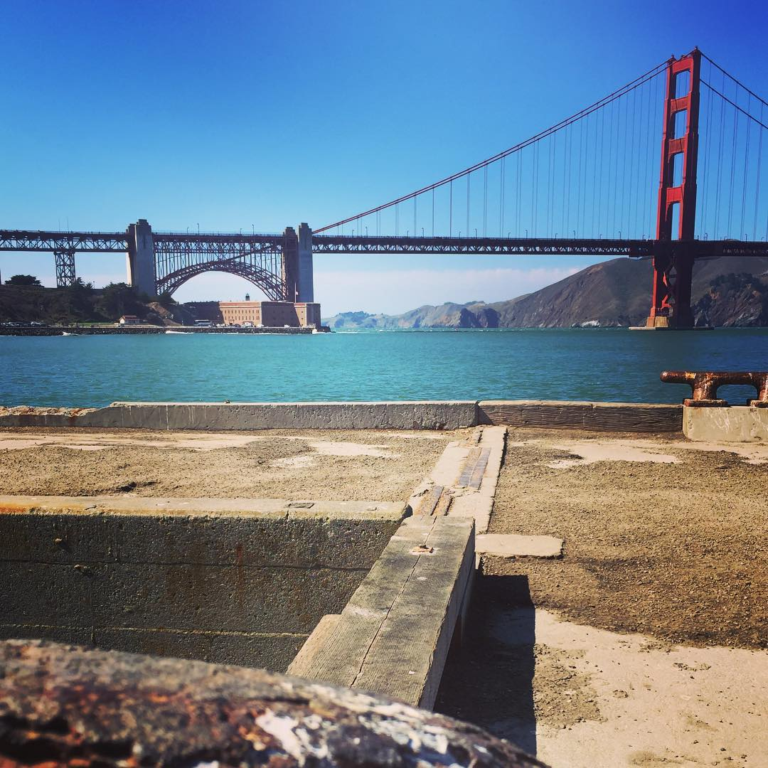 Sitting On A Dock of the #Bay... watching the #Tide (and the sets at Fort Point) roll away