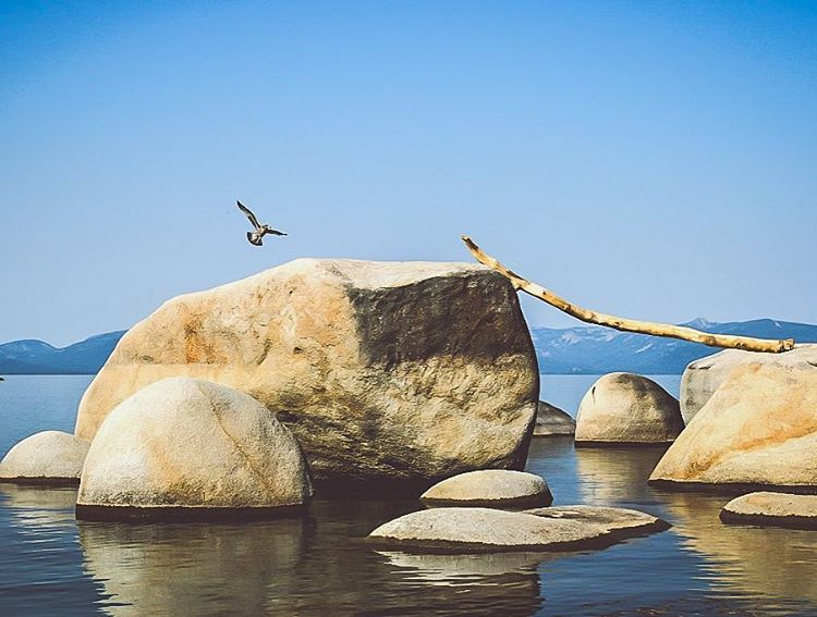 """Rocks are space, and space is illusion."" -Japhy _ #thisistahoe"