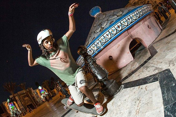 Regram from our extraordinary #LoadedAmbassador @yassineboundouq Throwing down some signature Moroccan style at a local landmark in his home town.  Photo: @abstractmindedphotography  #LoadedBoards #Tesseract #Orangatang #morocco