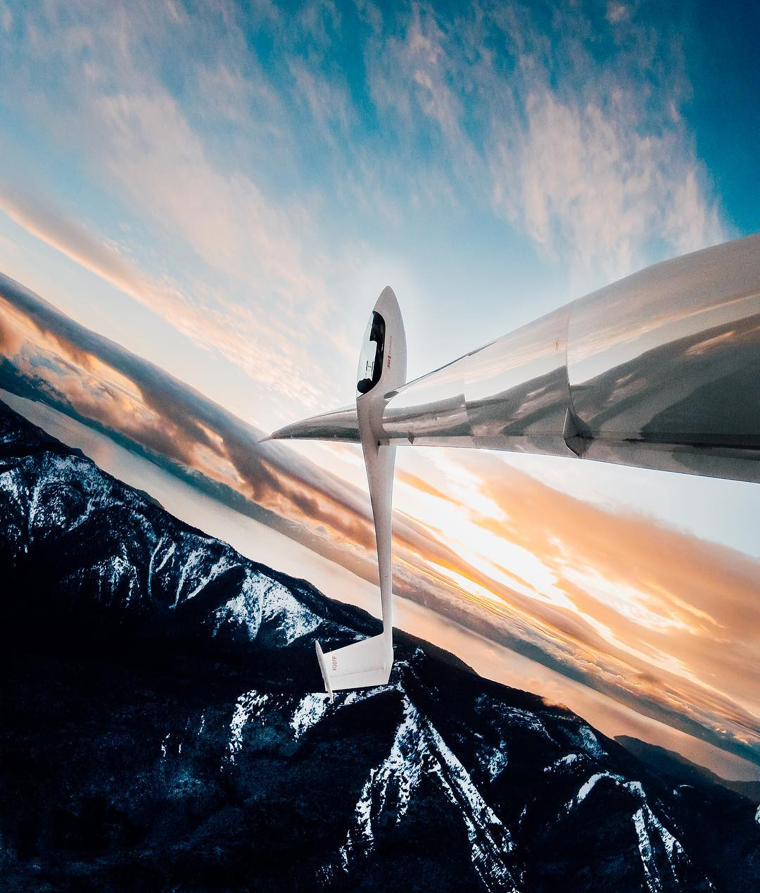 Photo of the Day! Gordon Boettger snapped this gem while having fun performing aerobatics in his #glider. #GoPro #GoProFlight #LakeTahoe