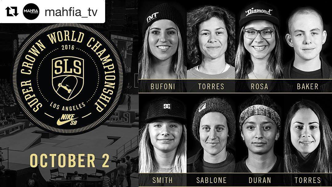 Don't forget to watch these ladies shred tomorrow!!! ・・・ WSA (@thealliance_wsa) is excited to announce the return of the Women's Division at @SLS Nike SB Super Crown World Championship