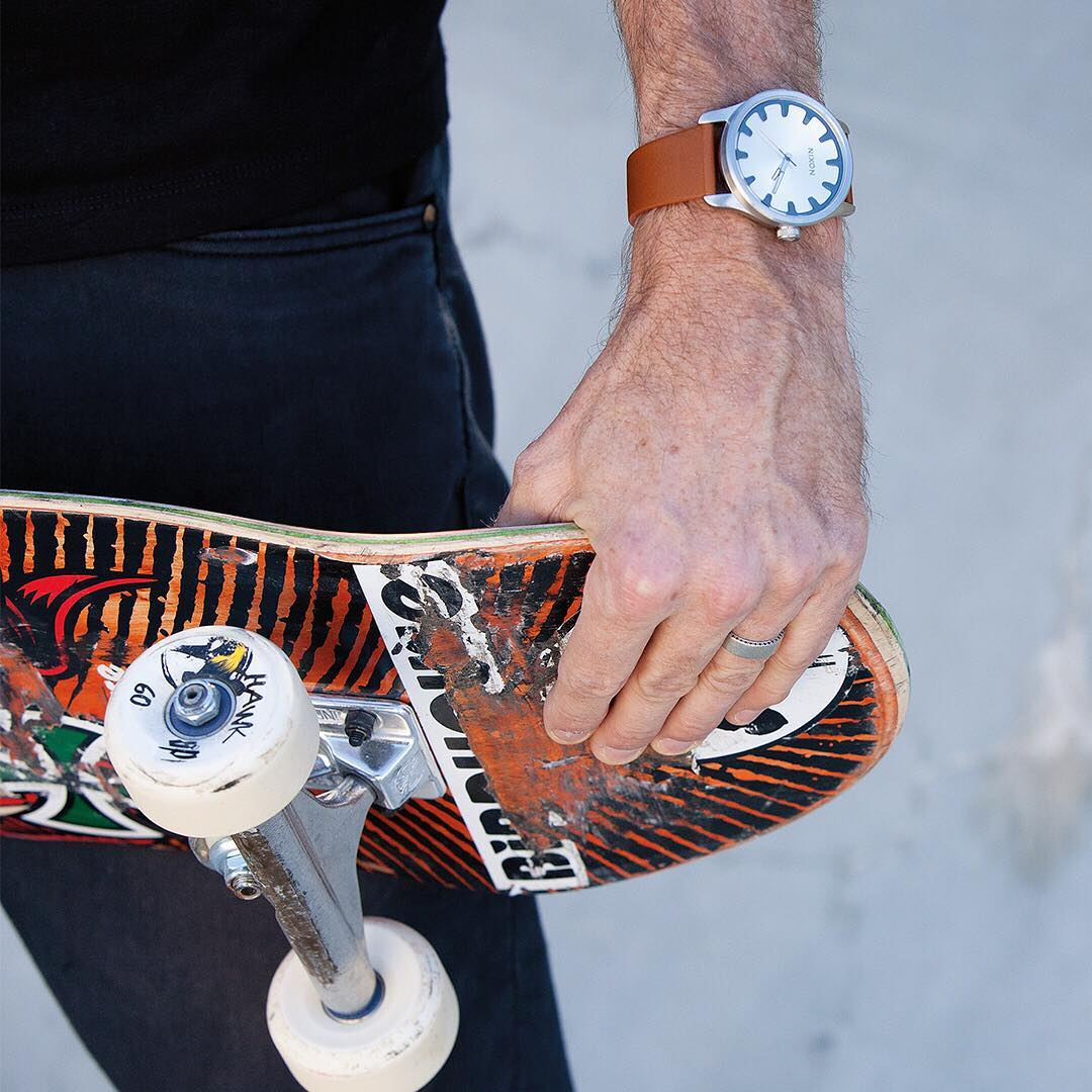 Fast times. @tonyhawk and the #DriverLeather.