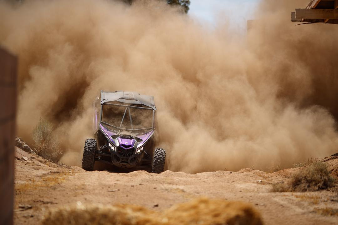 Dust storm in full effect! Full link in bio... #BattleBROyale #canam #maverickx3