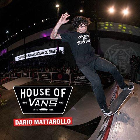 @dariomattarollo también estará presente en la #HouseOfVans. 8/10 - 14 HS. - Entradas en houseofvansbue.eventbrite.com.ar (link en nuestro perfil).