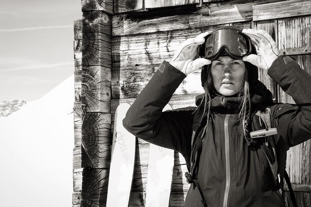 DPS European Mountain Ambassador, Sanne Mona, soaks in some strong spring sun.