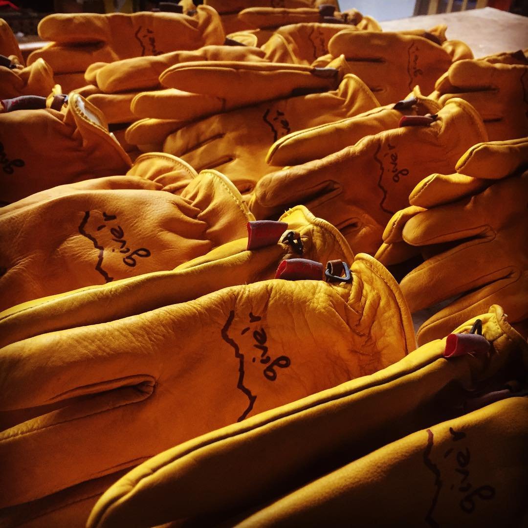 #sundayfunday at Give'r HQ prepping gloves for fall and winter ahead!  Are you ready?