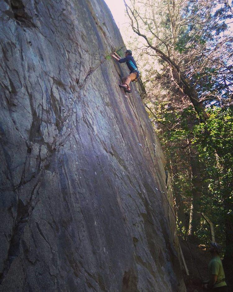 Una de hoy en la roca. Nada mal por  no escalar hace un tiempo !