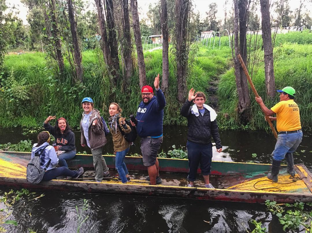 Not our normal neighborhood transportation - the #floatinggardens of Xochimilco remind us that everyone's normal is different. It was very cool to get off the grid and experience this neighborhood #travelwithpurpose #journey #journeytojourney...