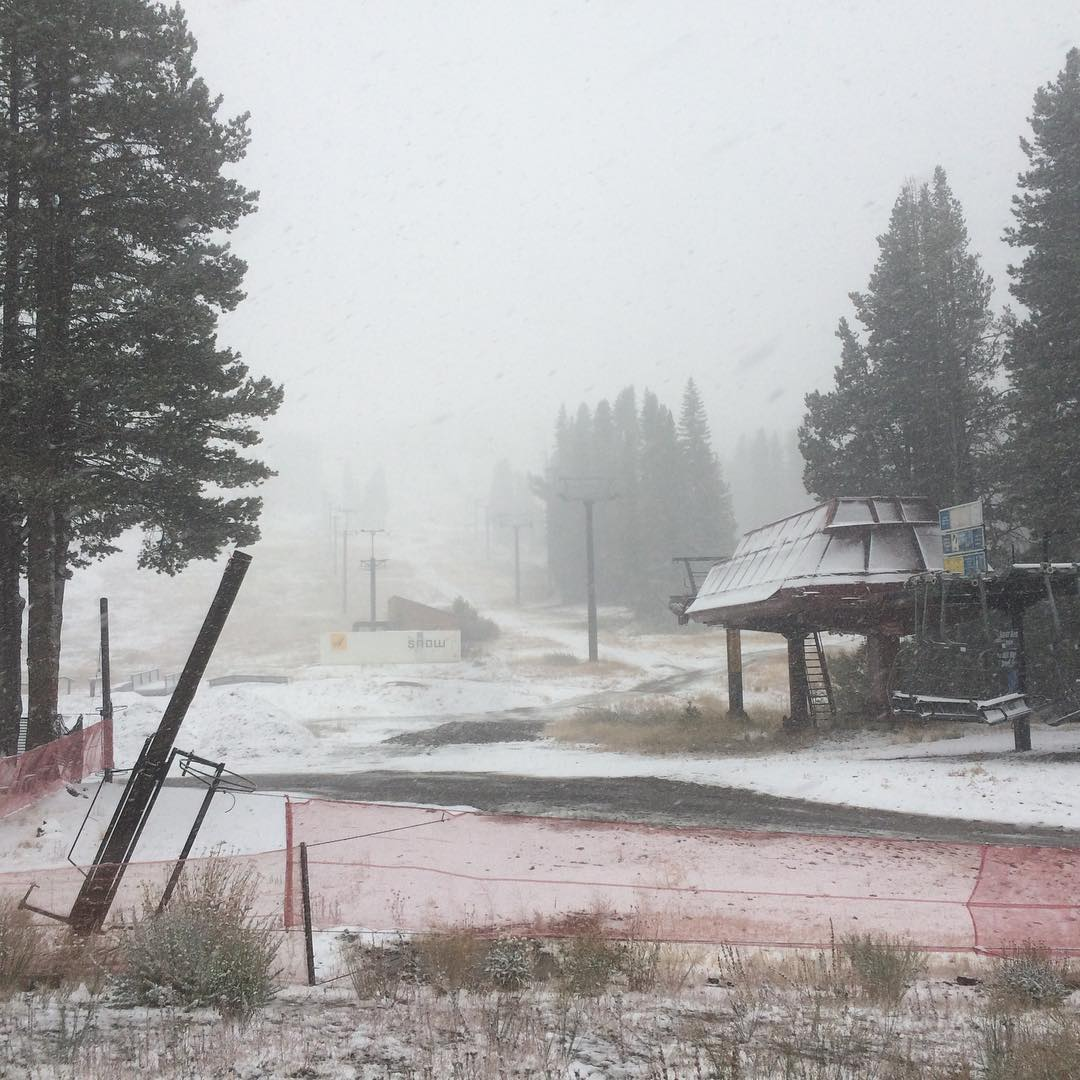 Snow in the sierras! Winter is coming who's ready?! @borealmtn