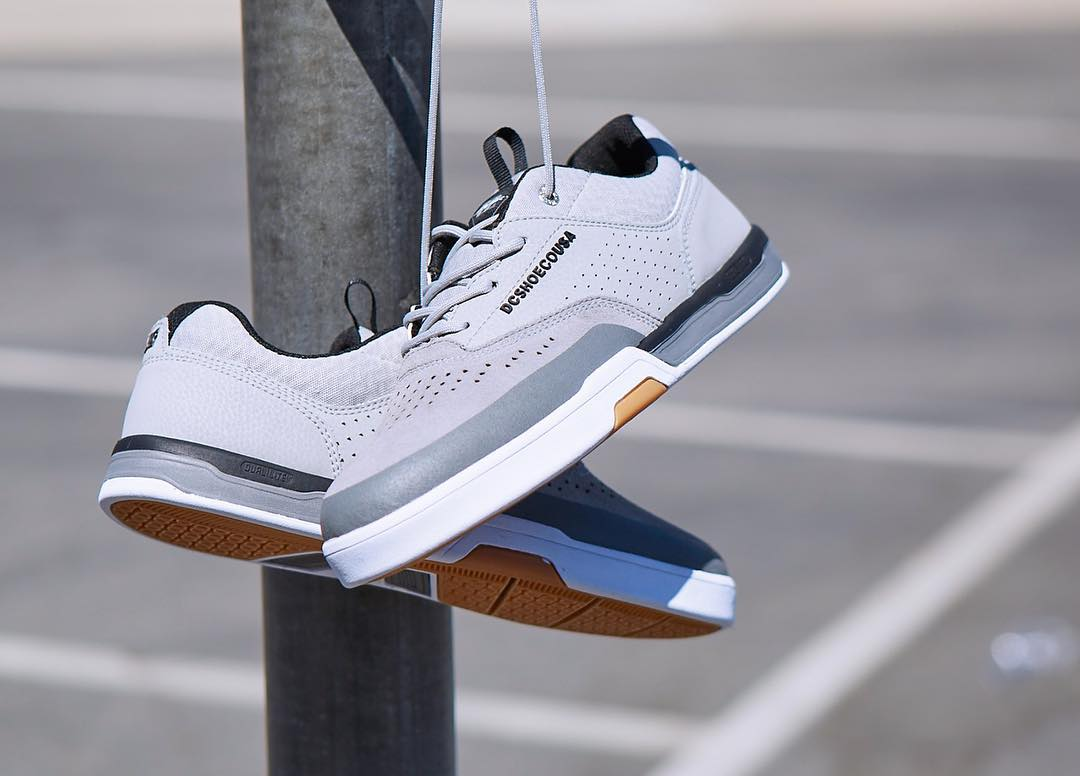 Packed with features like SUPER SUEDE, DUAL-LITE, and SUPER STITCH, the @chriscobracole Lite 3 is now available in Grey/Black at skateshops everywhere and dcshoes.com. #dcshoes #dccolelite