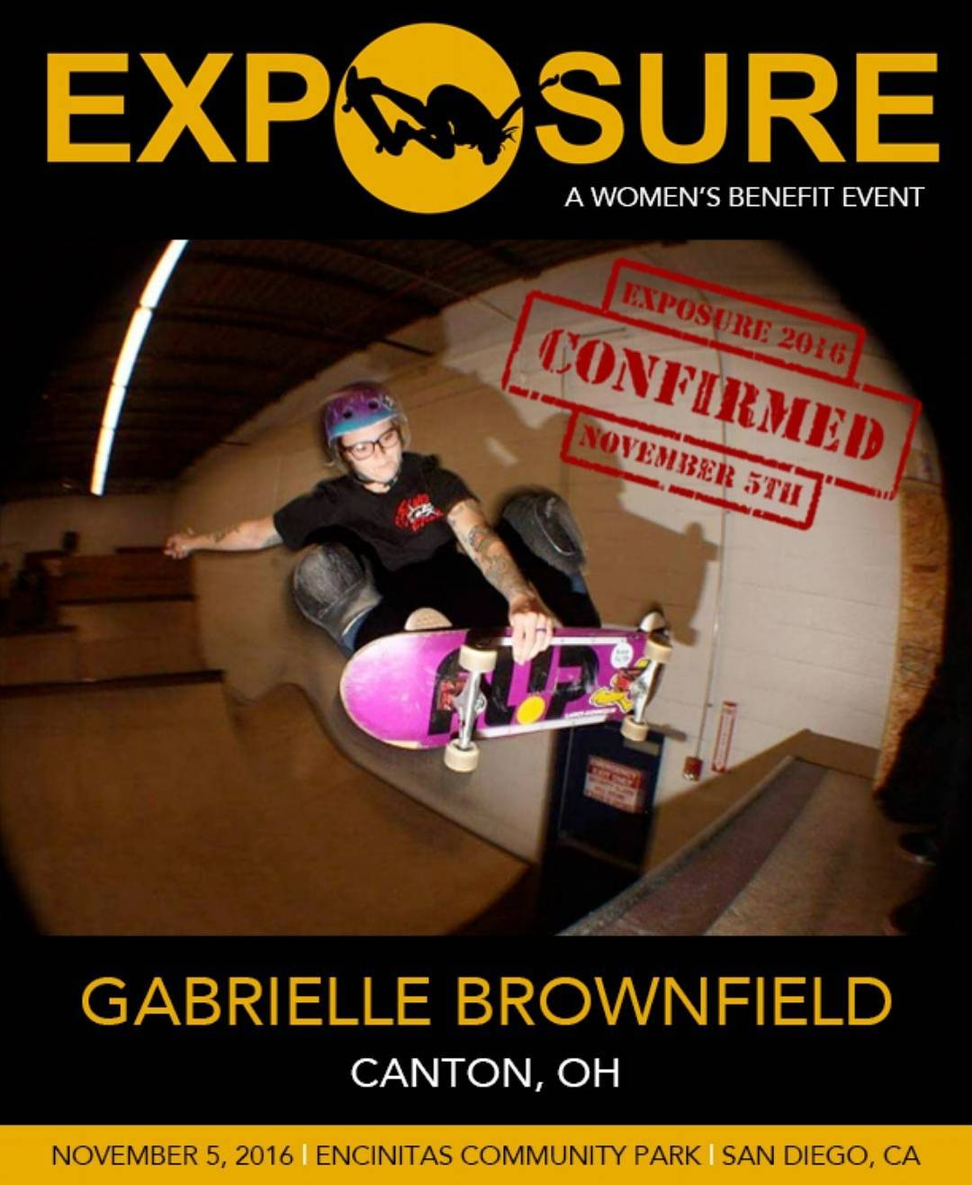 Happy to announce the stylistic @imjustgabs is headed to EXPOSURE!!