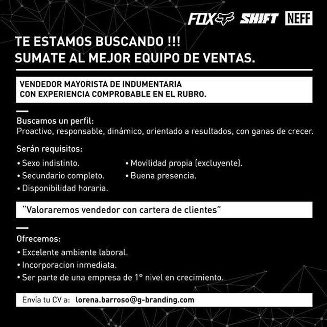 [Oportunidad de Trabajo en NEFF] Sumate al mejor equipo de ventas! En NEFF Argentina estamos buscando un perfil proactivo, responsable, dinámico, orientado a resultados y con ganas de crecer. ¿Pensás que calificás para el trabajo? Envía tu CV por...