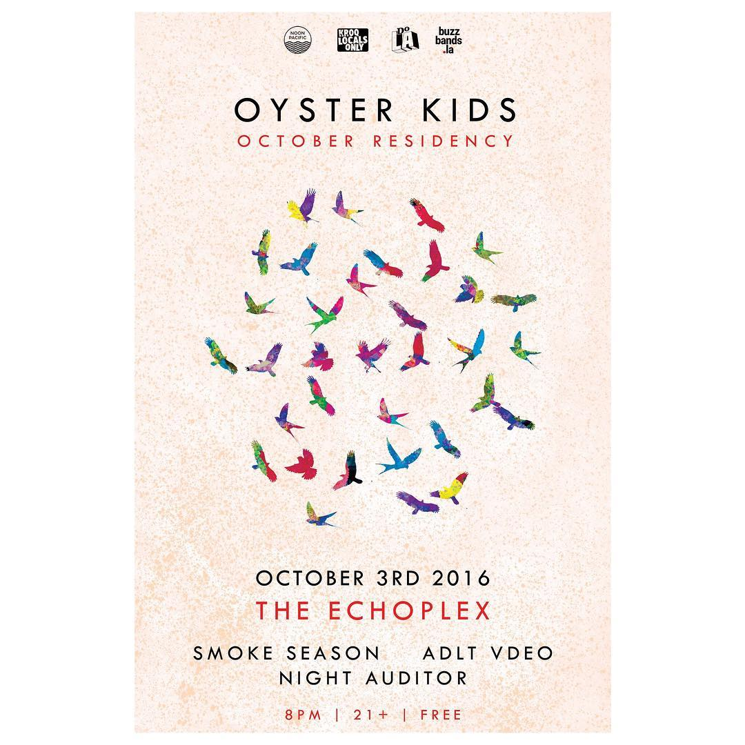 See you tonight @theechola for the start of @oysterkidsmusic October residency -- 8PM | FREE