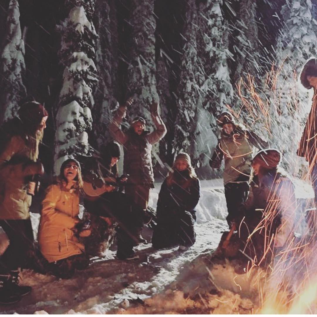 Getting wild by the fire! Ready for winter and all it brings! @fullmoonfilm and @hibeams #SupportWildLife and howl at the moon! || #VonZipper