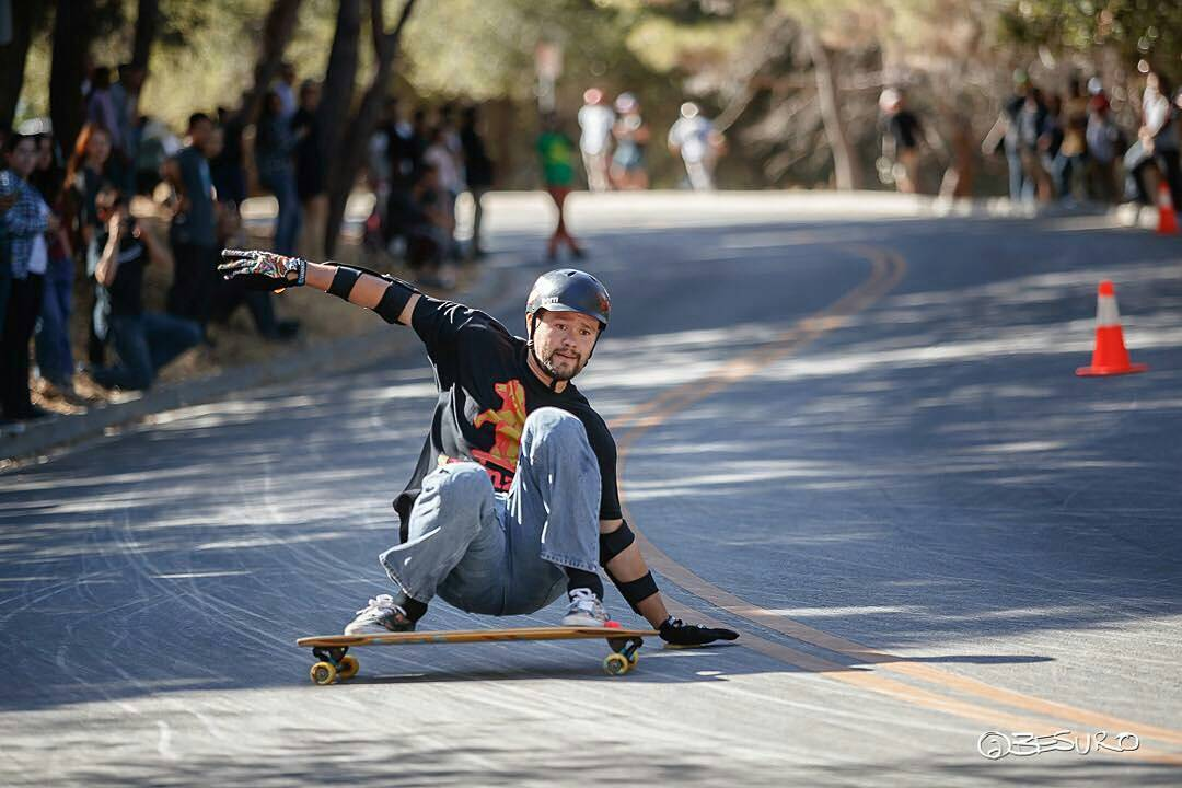 Team rider Michael Carson--@mcarsonlikescats sliding at the Menlo Skate jam last weekend!