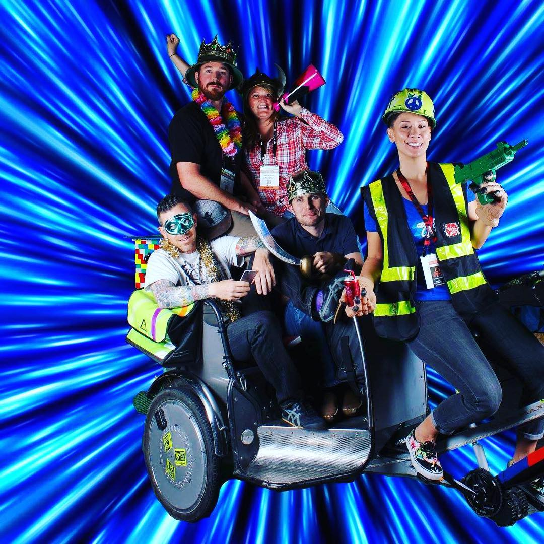Coming in at light speed! If you joined us in Las Vegas for Interbike, roll over to our Facebook to catch our photos from our fun and funky photobooth! #Interbike #rideyourbike #photobooth #spacedout #upcycle