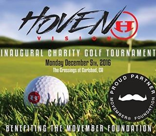 ATTENTION ALL MO BROS AND MO SISTAS--mark your calendars. The Inaugural Hoven Charity Golf Tournment benefiting the @movember foundation is set for @thecrossingsatcarlsbad on Monday, December 5! Since 2003, the Movember Foundation has been raising...