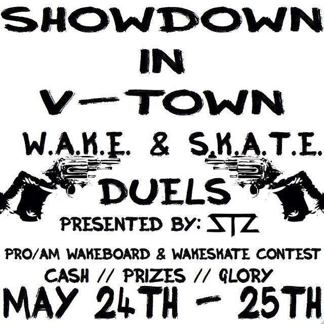 A week from today you better be packing up and heading to @valdostawakecompound for an awesome contest! Check the fb event page for more info // cash // prizes // glory ... #stzlife #vwc #wakeskate #wakeboard #cablepark #contest #regvsgoofy...