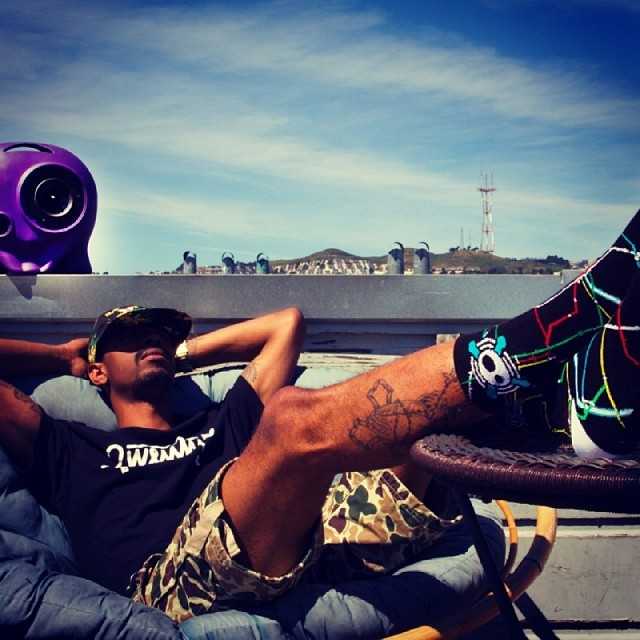 Morning. #boombotix #socks #forthewin #tgif #SF #camo #purple #thumper