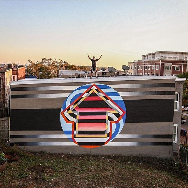 @abovestudio in Washington DC. • • With @artwhino Photo by @tostfilms • • #art #mural #above #streetart