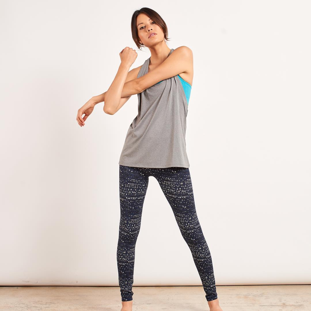 Wherever you are... Stop, breathe, and stretch for a few minutes.  YOU GOT THIS. #isitfridayyet #onlytuesday #motivation #getactive  Featuring the Firefly Legging, Luna Sports Bra and Cameron Tank - all made from recycled water bottles!...