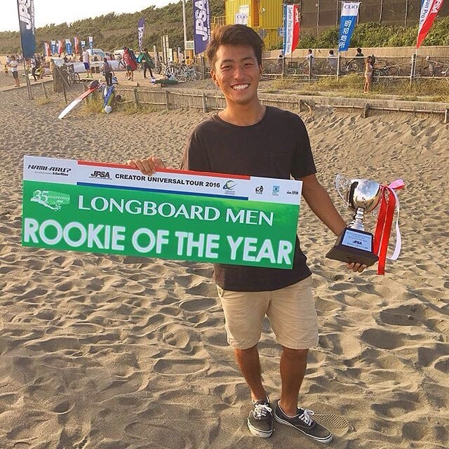 Kimi Big Congratulations JPSA  ROOKIE OF THE YEAR 2016 Japan Pro Longboard Tour.  @kimihikonishizaki