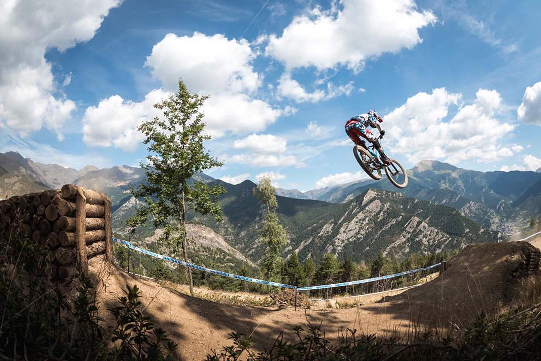 Another #WhipitWednesday but this is the #Downhill #WorldCup edition... @lorisvergier flying high in Andorra! #SixSixOne #661Protection #ProtectFun Photo @davetrumporephoto