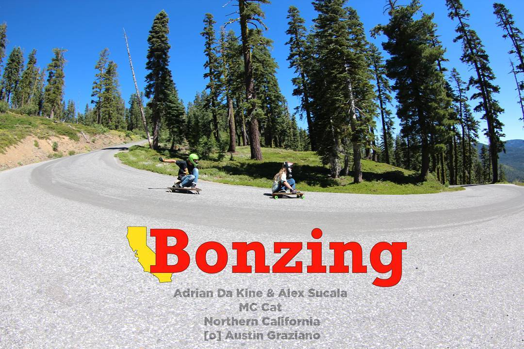 Wallpaper Wednesday is here for you!  Back to the mountains we go with Team riders Adrian DaKine and Alex Sucala hitting a beautiful Northern California hairpin!  Get the high resolution background for your phone from the link in our bio!  #bonzing...
