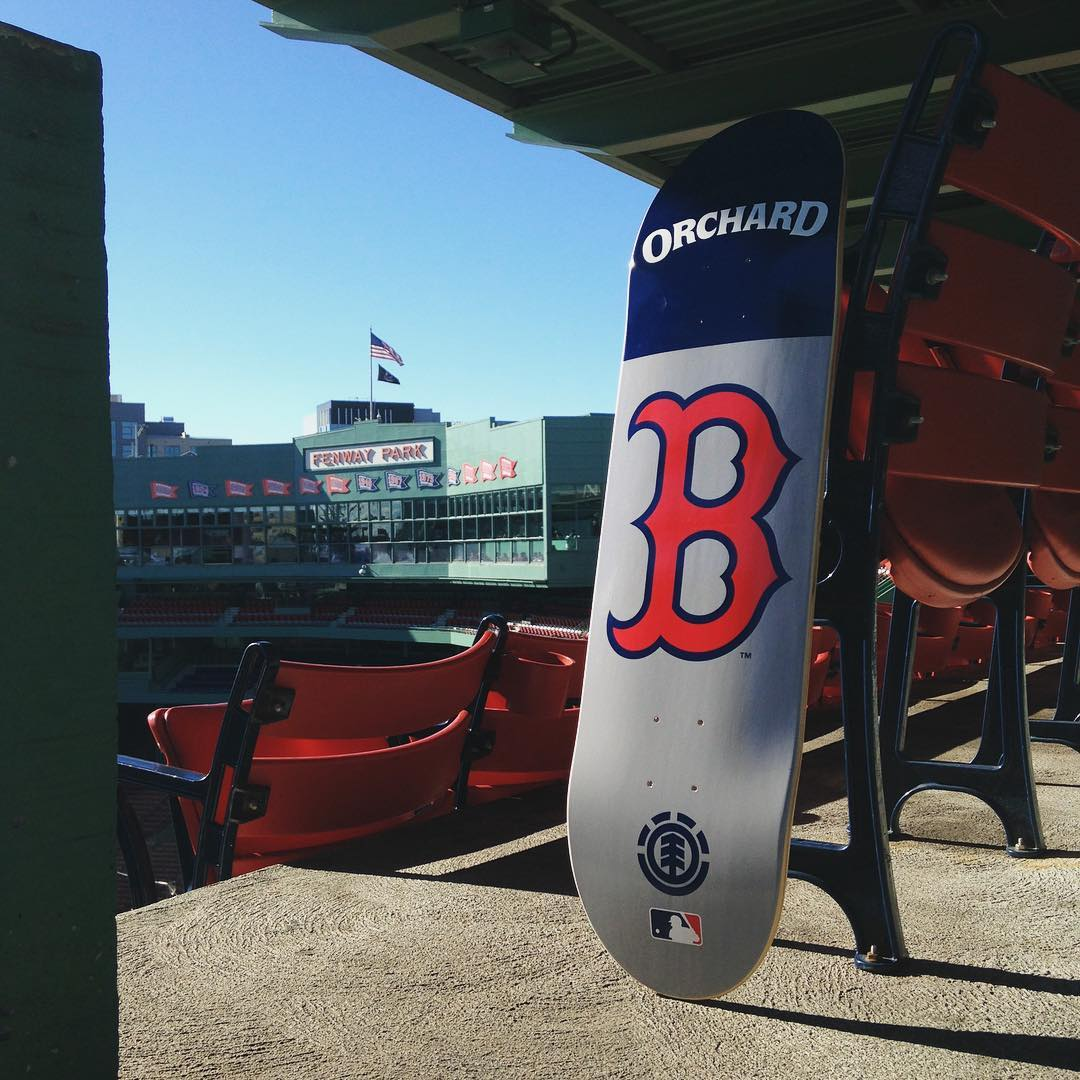 @orchardshop has that pennant fevahh! They've re-up'd on the exclusive @redsox collab boards, check their feed for the details on how to pick one up >>> #elementxmlb #supportyourlocalskateshop #bostonstrong