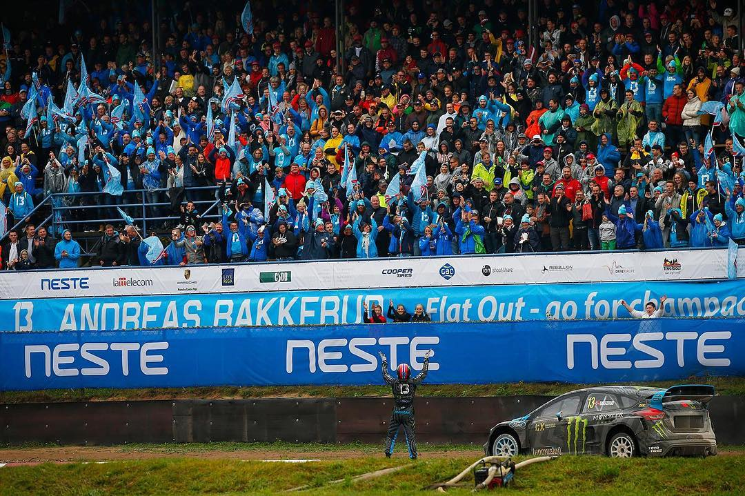 This past weekend, 147 devoted @AndreasBakkerud fans chartered their own plane from Norway and flew to the #LatviaRX race to cheer on their favorite driver. I love seeing the dedicated support Andreas has from his family, friends, and personal...
