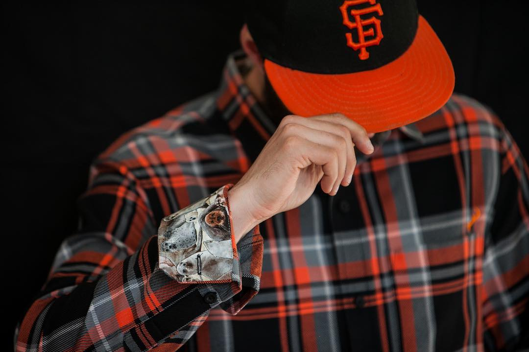Feeling pretty good with MadBum on the hill tonight, but our anxiety is rising fast. How you holding up? #gogiants #wildcard #mlbplayoffs #nervous #flannel #pladra