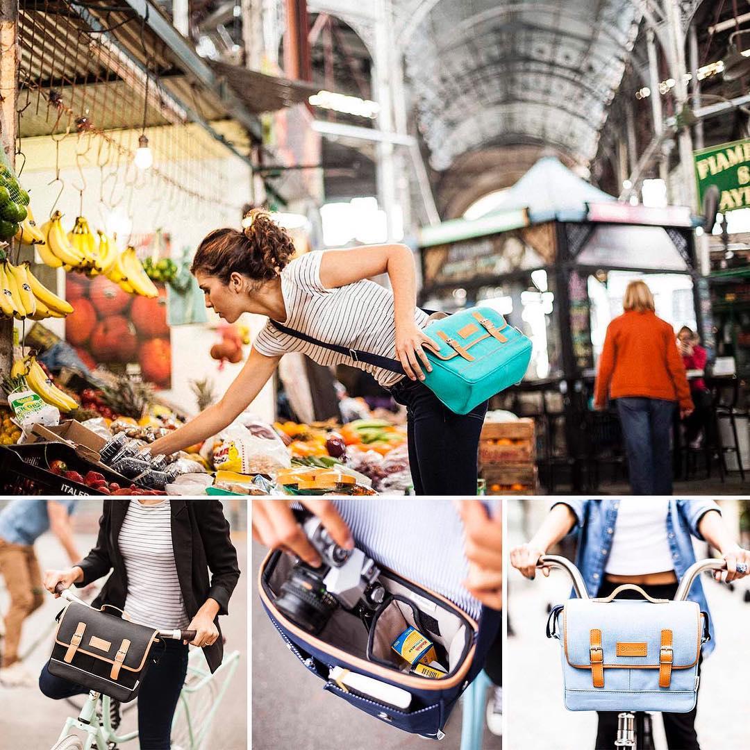 El mismo bolso que usás durante el día lo podés colocar en la bici. . . #bikelife #ciclismourbano #fotografia #dinamo
